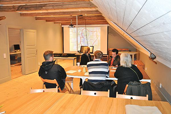 Planeringsmötet på Stavsäter pågår.