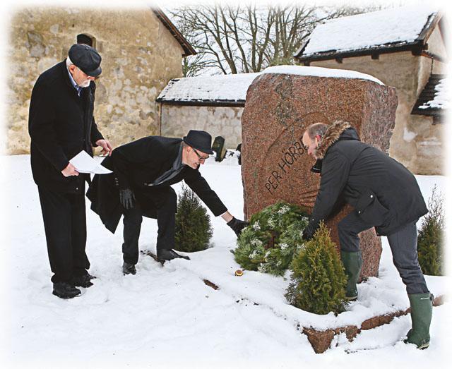 Söndagen den 24 januari 2016 skedde kransnedläggning vid Pehr Hörbergs minnessten (1857) på Gamla kyrkogården vid S:ta Maria kyrka av kyrkoherde Karl Magnus Hansson med flera.