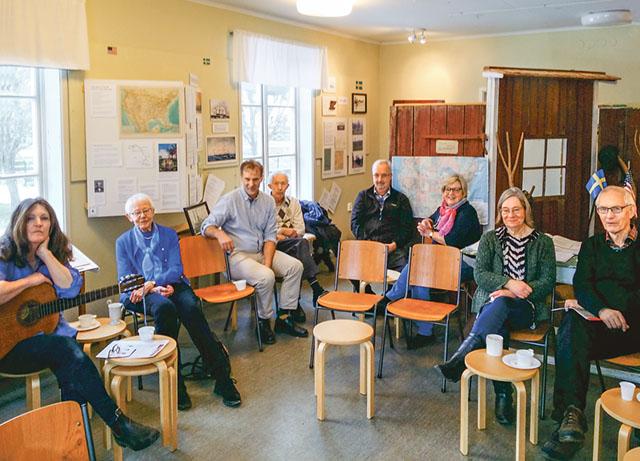 Samling på muséet i Asby för Andrew Petersonsällskapet