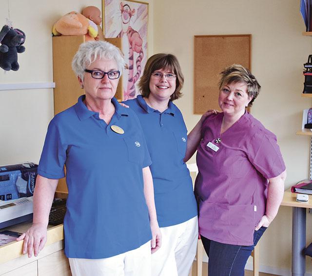 Tre av fyra bvc-sköterskor med specialutbildning där samtliga är distriktssköterskor i grunden,