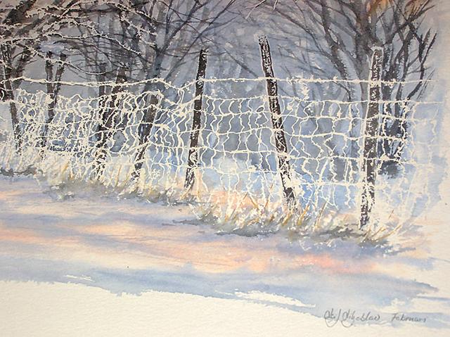 Vintermotiv av Leif Liljeblad.