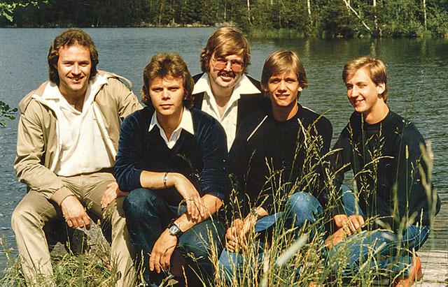 Bandet Blue Berrys firar 40-årsjubileum i år. Från vänster Kent Strö?mberg, Jan Palm, Jimi Wildrot, Per Gustavsson och Lars Örtegren. Bild: PRIVAT