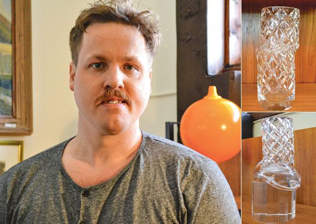 Simon är uppvuxen med glas genom sina föräldrar som båda är glaskonstnärer.