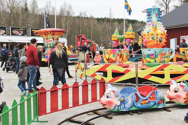Färggranna attraktioner för de yngsta besökarna.