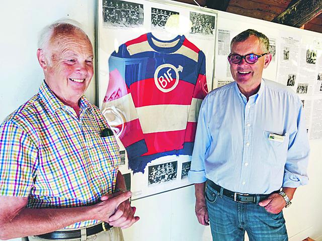 Berndt Andersson och Ingemar Nordström ligger bakom mycket av arbetet med utställningen om Boxholms idrottsföreningar.