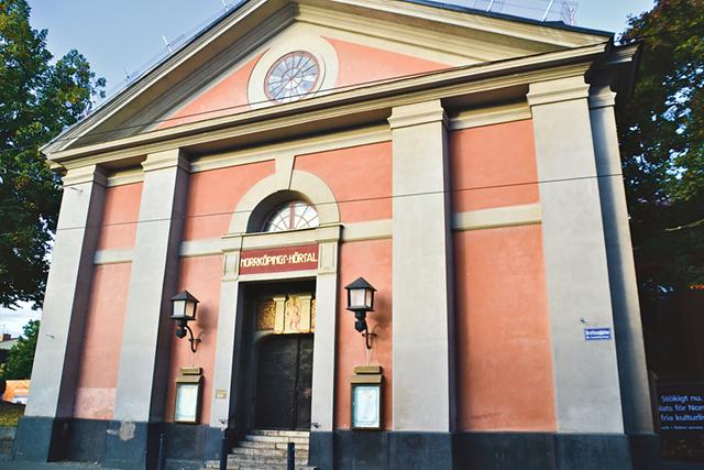 Hörsalen var från början en kyrka tillhörande S:t Johannes församling.