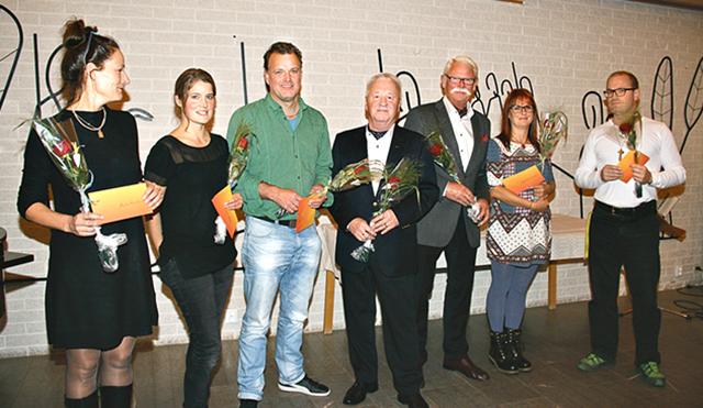 Malin Kärrbrink, Kristin Mörck, Anders Gustafsson, Jan Wahlström, Kennet Edlund, Camilla Linusson och Magnus Olofsson får kulturpris från Löfska stiftelsen 2016.