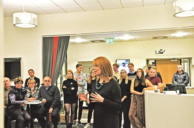Centerledaren Annie Lööf höll ett inspirerat engagerat tal som berörde många ämnen.