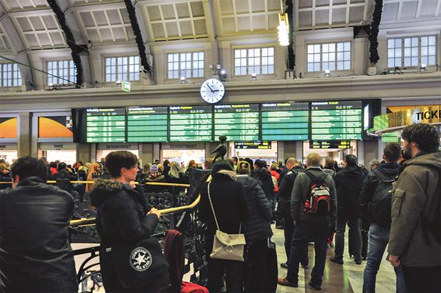 Centralstationen Stockholm den 9 november.