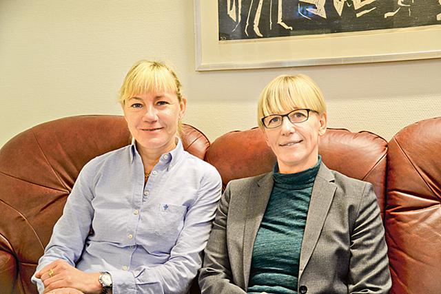 Kirsi Aronsson och Carina Olofsson jobbar för att fler ska ansluta sig till Finspångs föreningsliv.