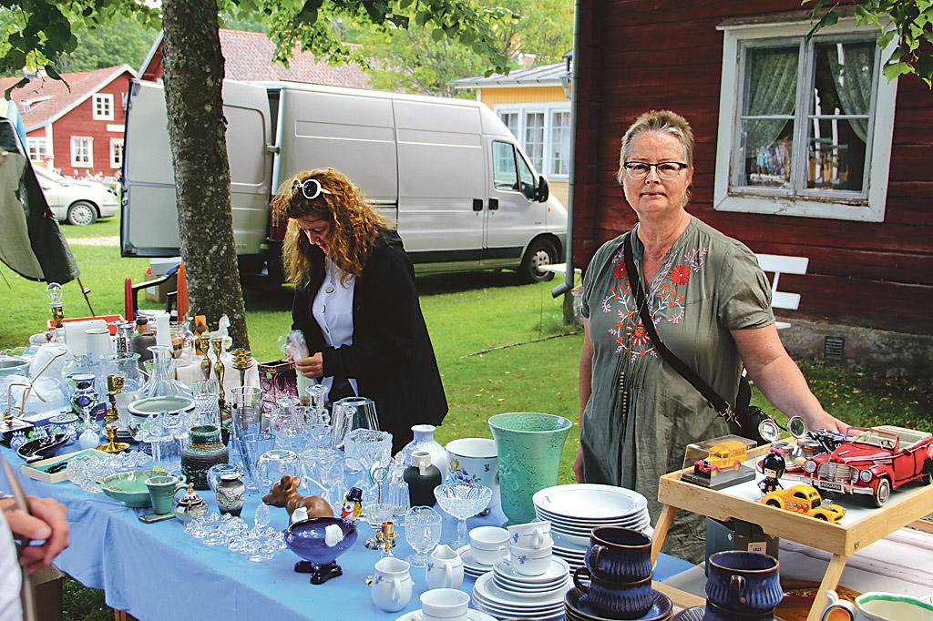 Bettan Rylander och Anette Ivarsson var mycket nöjda med sin dag på Medevi brunn.