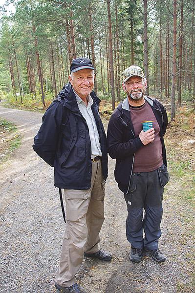 Roland Åberg Flen och Anders Grünning Åtvidaberg besökte storskogsdagarna.