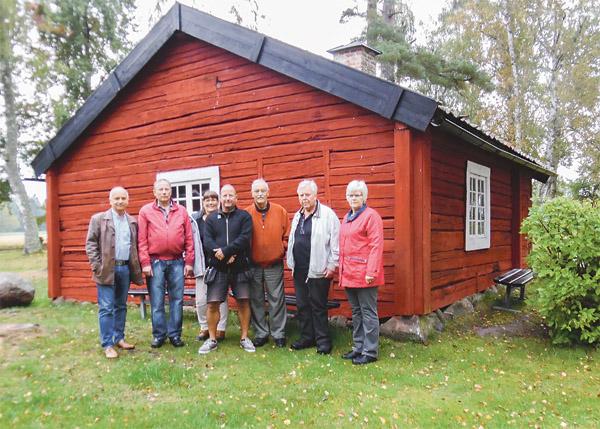 Styrelsen i Veta hembygdsförening, från vänster: Anders Hagelin, Roger Whass, Susanne Hagelin, Joakim Ydrebrant, Inge Bäckman, Rune Persson och Gunnel Persson.