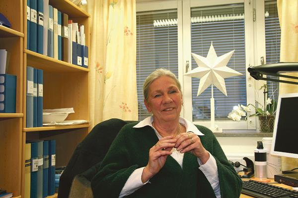 Gunilla Christensen i sitt tjänsterum.