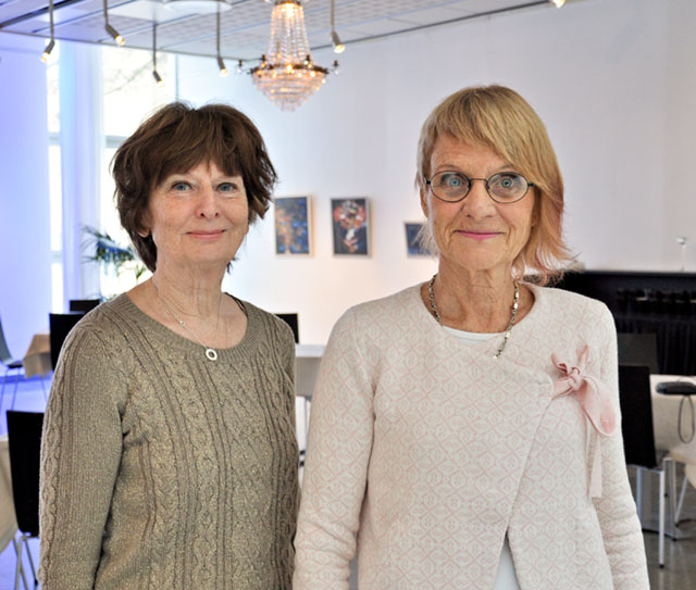 Maria Tronnersjö och Monika Minnhagen- Alvsten har ställt ut tillsammans flera gånger