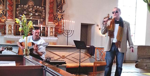 Magnus Olofsson har sjungit förr I Stora Åby kyrka.