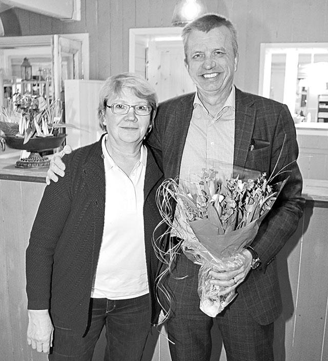Den nya kretsordföranden Katarina Karlberg och den avgående efter tre år, Peter Karlström.