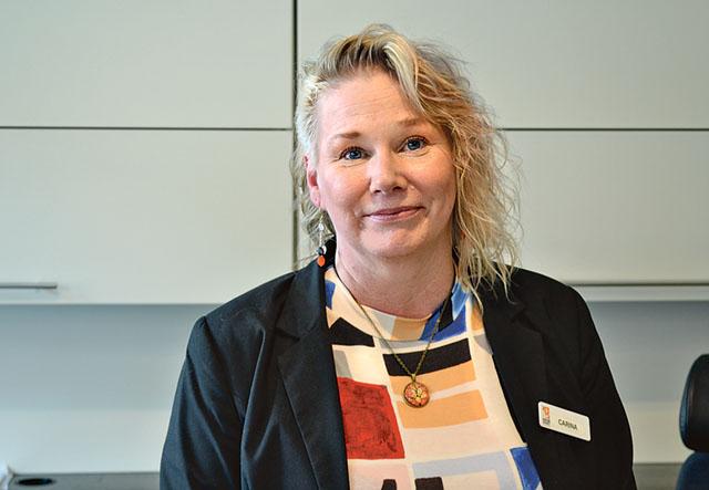 Carina Lindberg finns på plats i Kulturhuset.