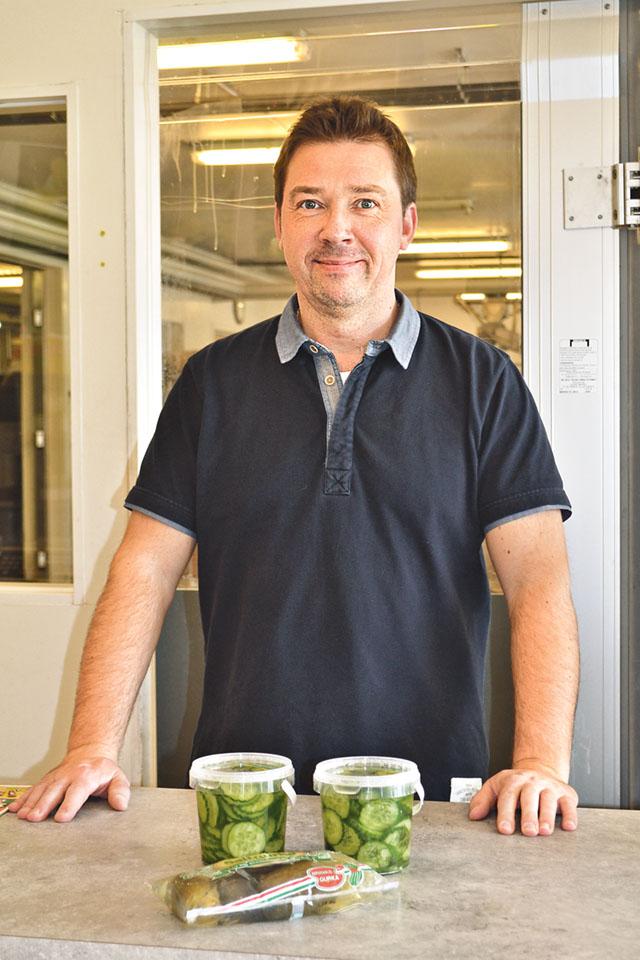 Gurka är gångbart till mycket, inte endast på smörgås försäkrar Anders Larsson.