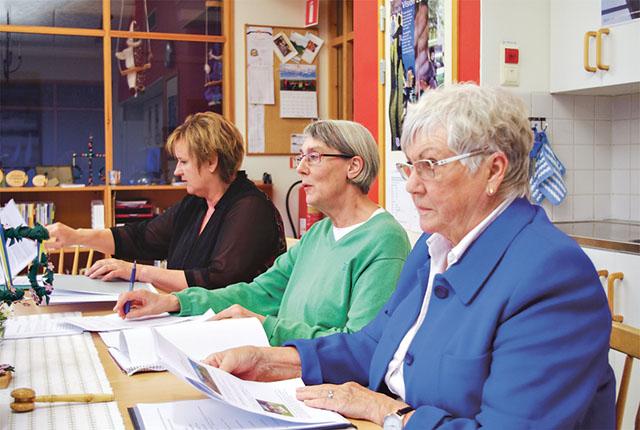 Tre styrelseledamöter. Från vänster: Charlotte Gustavsson, Annika Hassel och och Barbro Tjernström.