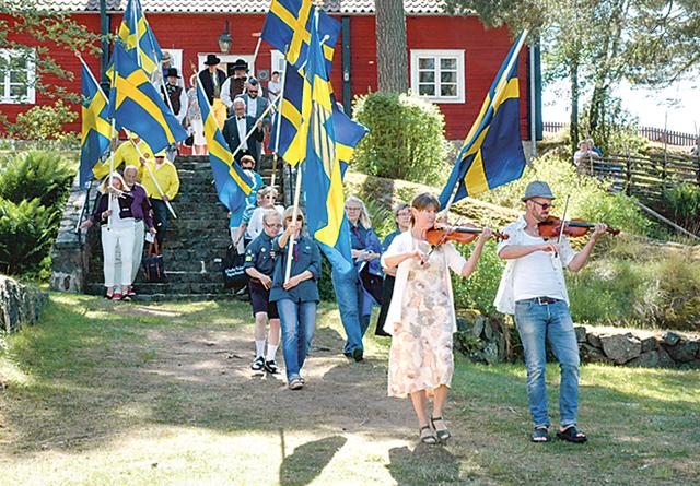 I år var det ingen marsch med musik och fanor från torget i Kisa, utan firandet av nationaldagen startade på hembygdsgården.