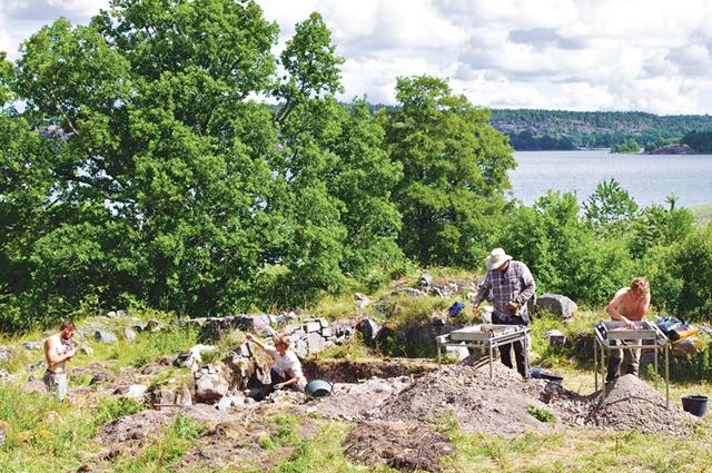 En översikt över utgrävningsplatsen.