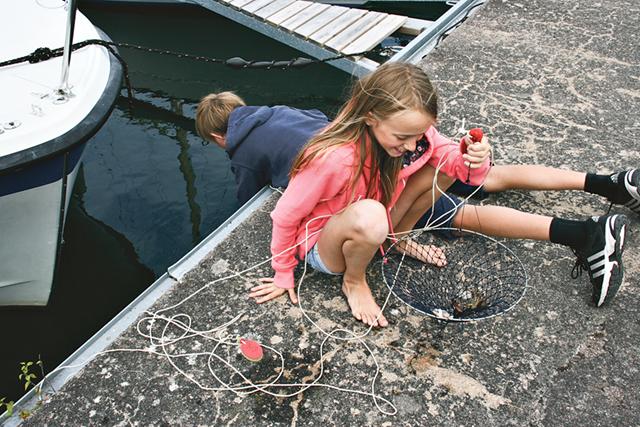 Alva och Anton Andreasson debuterar som kräftfiskare.