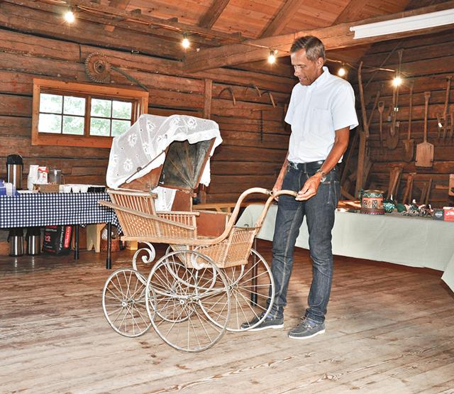 Barnvagn från 1890-talet, troligen importerad