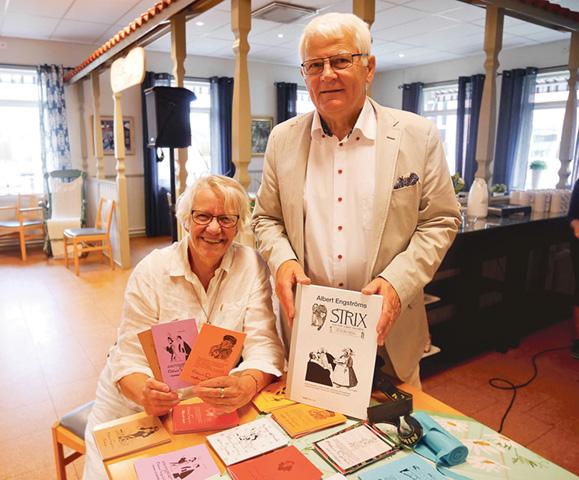 Stina Ekeroth och Kaj Hörberg berättade om Albert Engströms liv på Bjursdalens trivselhus.